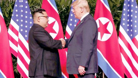 Trump surprises N. Korea with offer to meet Kim at border