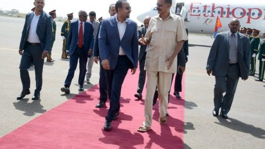 Ethiopia's Prime Minister, Dr. Abiy Ahmed arrives In Asmara For Two-Day Working Visit