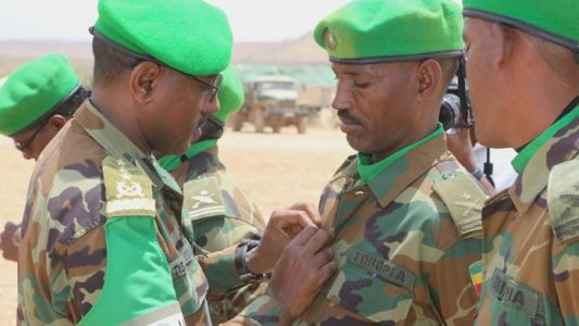 AMISOM Honors Outgoing Ethiopian troops in Somalia